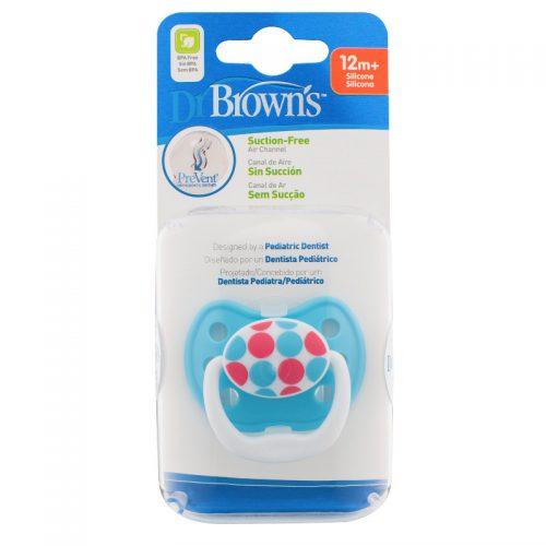 Dr Browns smoczek prevent classic 12+miesięcy 1 szt kółka niebieskie