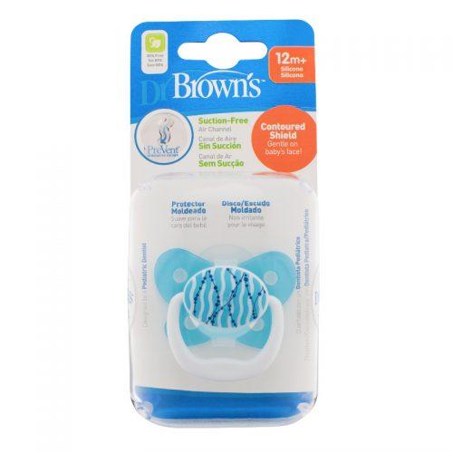 Dr Browns smoczek prevent motyl 12+miesięcy niebieski 1 szt koraliki