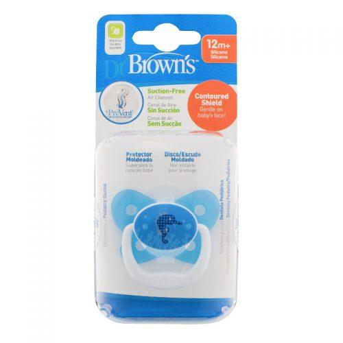 Dr Browns smoczek prevent motyl 12+miesięcy niebieski 1 szt konik morski