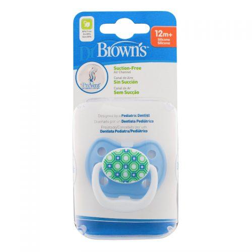 Dr Browns smoczek prevent classic 12+miesięcy 1 szt kolorystyka dla chłopca pięciokąty