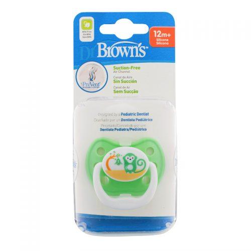 Dr Browns smoczek prevent classic 12+miesięcy 1 szt kolorystyka dla chłopca małpka