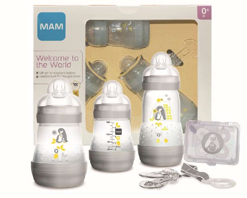Zestaw startowy do karmienia Mam Baby starter Set Biały smoczki + butelki