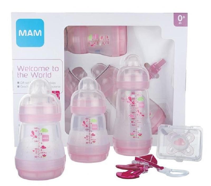 Zestaw startowy butelki + smoczki Mam Baby starter Set Różowy