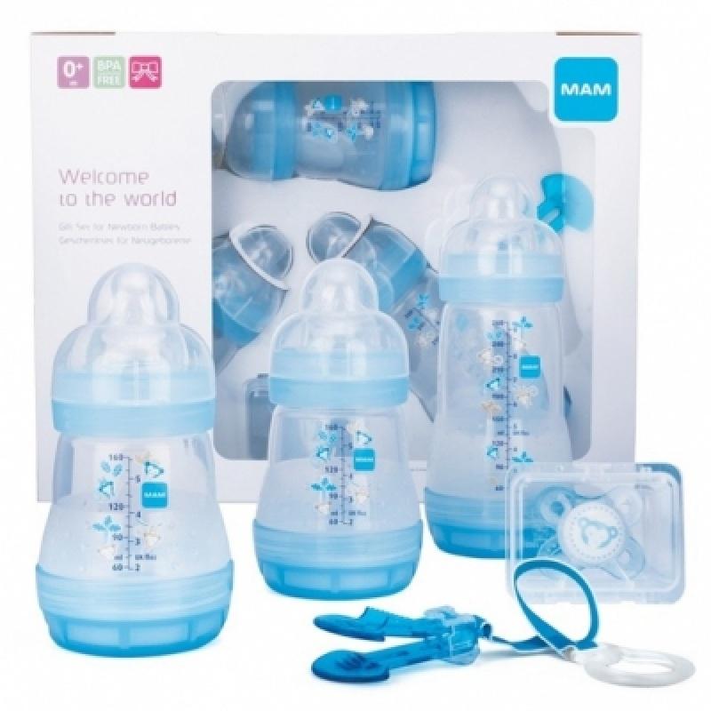 Zestaw do karmienia niemowląt startowy Mam Baby starter Set Niebieski