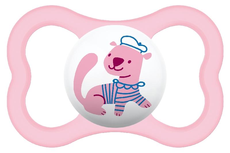 Smoczki uspokajające Mam Air Smile 16+ różowa fretka
