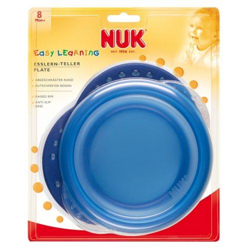 Talerzyk do karmienia z przykrywką Nuk Easy Learning niebieski