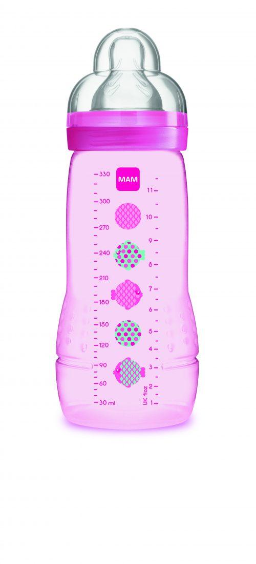 Wysokiej jakości butelka do picia dla niemowląt 4m+ Mam Baby Bottle Pattern Różowy