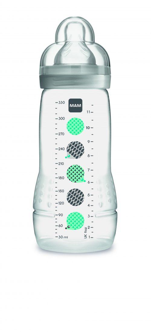Wysokiej jakości butelka do picia dla niemowląt 4m+ Mam Baby Bottle Pattern Szary