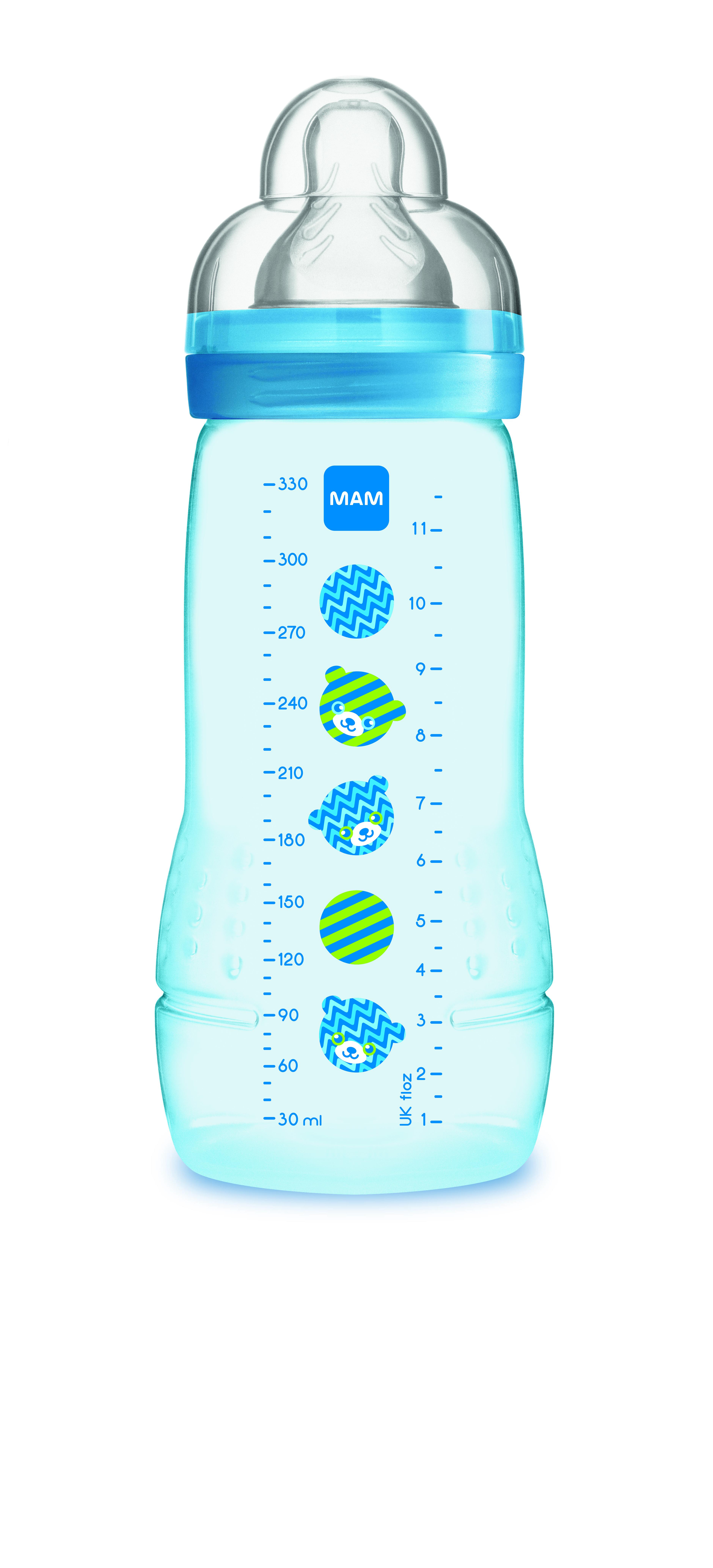 Wysokiej jakości butelka do picia dla niemowląt 4m+ Mam Baby Bottle Pattern Niebieski