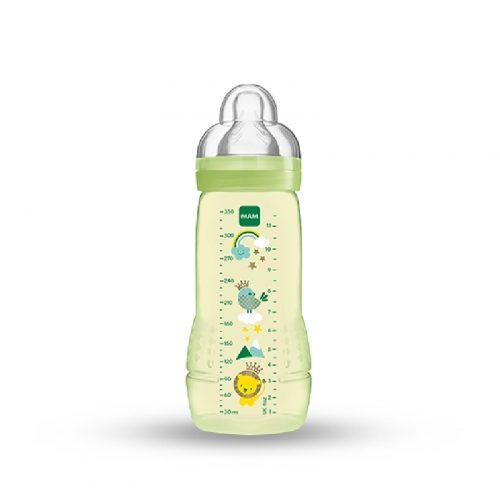 Wysokiej jakości butelka dla niemowląt 4m+ Mam Baby Bottle Fairytale 330ml zielona