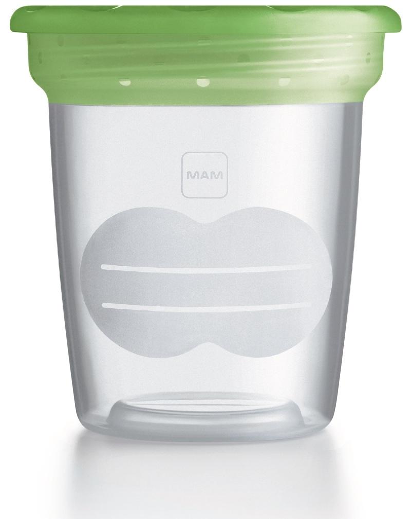 Plastikowe pojemniki na pokarm pojemność 120 ml 5 szt w opakowaniu Mam Zielony