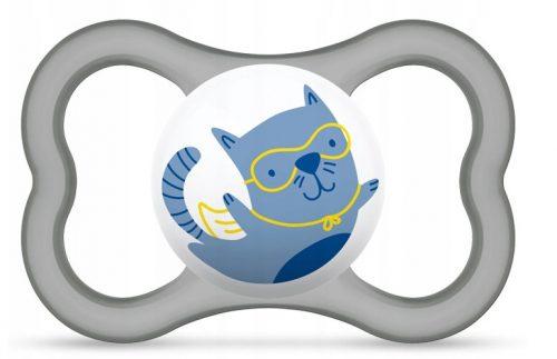 Smoczek Mam 16+ Air uspokajający niebieski kot