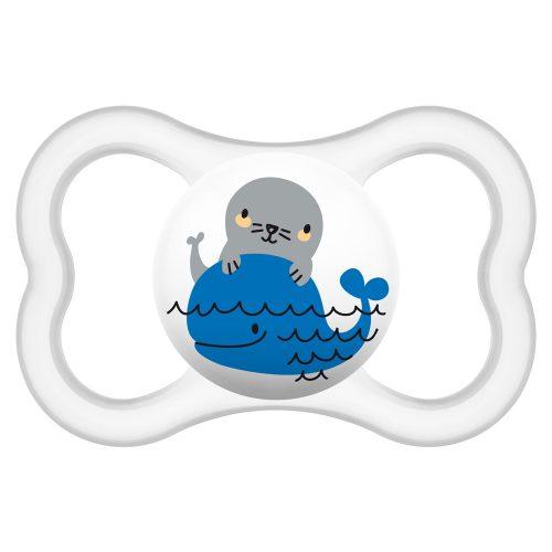 Smoczki uspokajające Mam Air Smile 16+ Przeźroczysty wieloryb