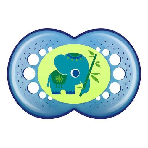 Smoczki niemowlęce mam kolekcja Mam Crystal 6+ Zielony słoń