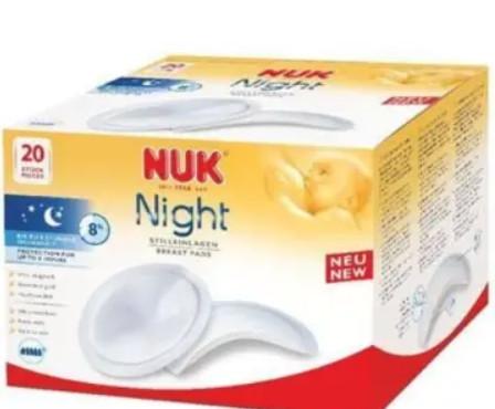 Super chłonne wkładki laktacyjne na noc 20 szt - do 8h ochrony
