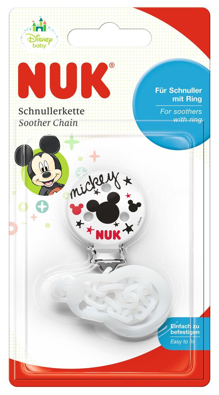 143782f95fdb14 Klips z łańcuszkiem do smoczka Disney Myszka Miki NUK Biały - Sklep ...