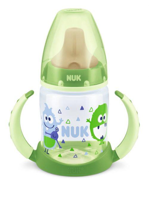 Butelka do nauki picia 150ml z uchwytami lateksowy smoczek Nuk First Choice zielona