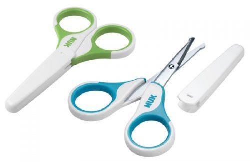 Nożyczki dla niemowląt w 4 kolorach, nowy model - Nuk Turkusowy