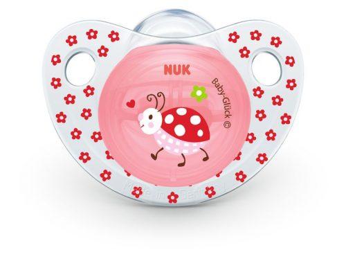 Smoczek uspokajający silikonowy 6-18 miesięcy Baby Gluck Nuk Biedronka i żaglówka