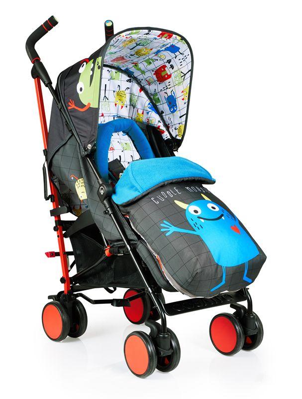 Wózek spacerowy Supa z mini głośnikiem śpiworkiem i folią Cosatto