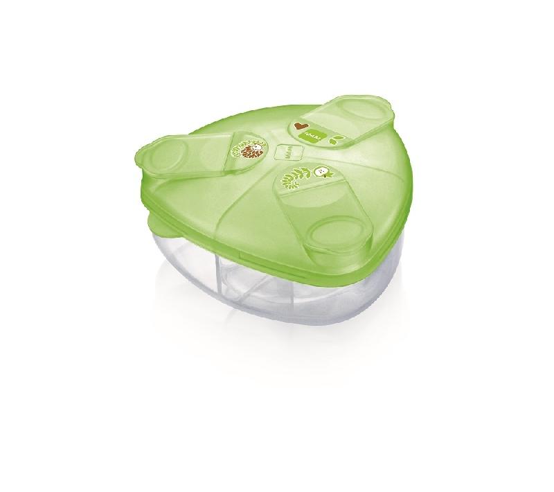 Pojemnik na mleko w proszku Mam zielony jeż