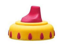 Nakładka na kubek niekapek Activ Junior Bibi żółta