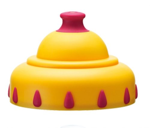 Nakładka ze sportowym ustnikiem na butelkę Bibi z szeroką szyjką 12 m+ żółta