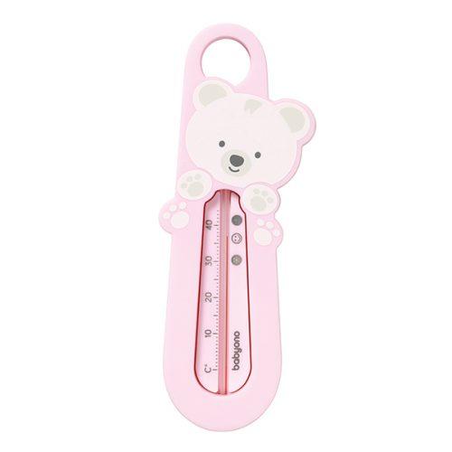 Termometr do kąpieli niemowląt mis różowy Babyono