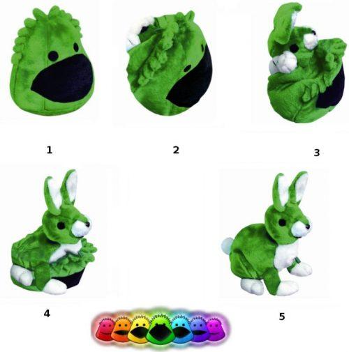 Blubbisie Mini pluszowe maskotki zmieniające kształt zielony
