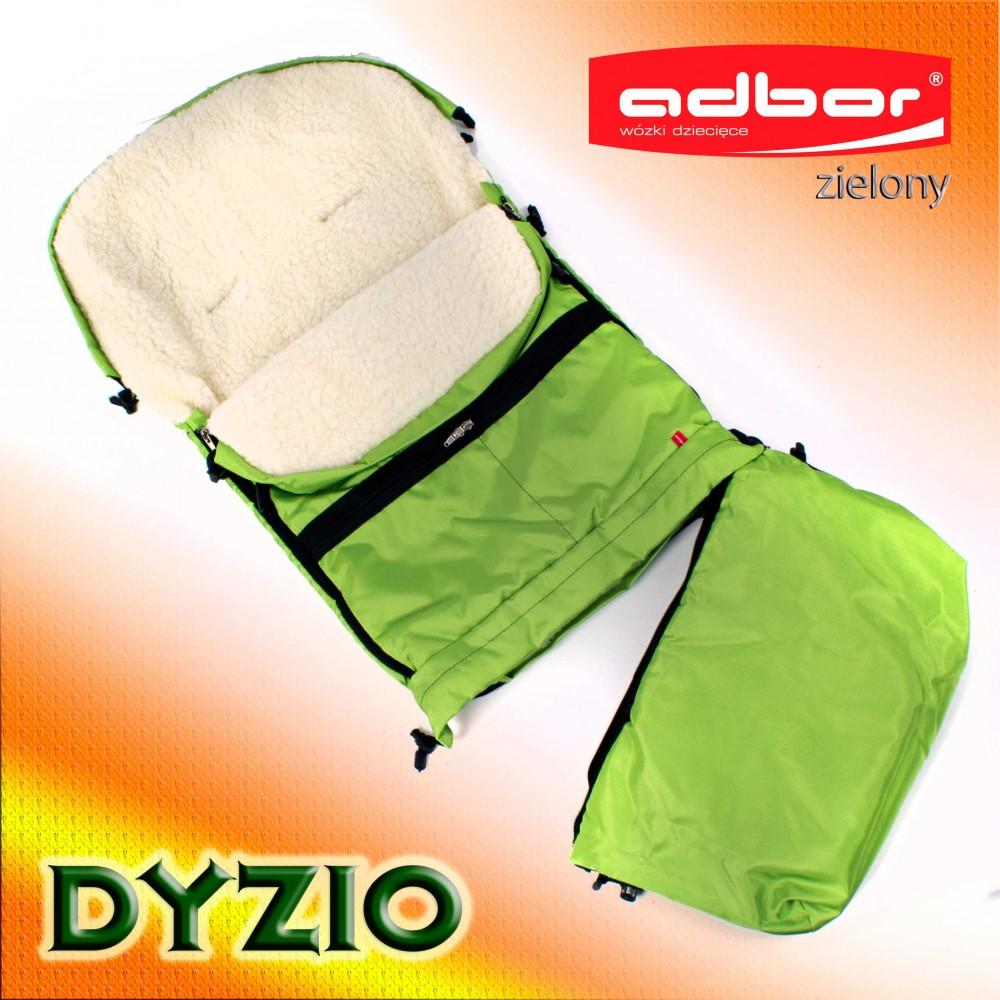 Śpiworek do wózka sanek wielofunkcyjny Dyzio 80-110 cm Zielony + torba