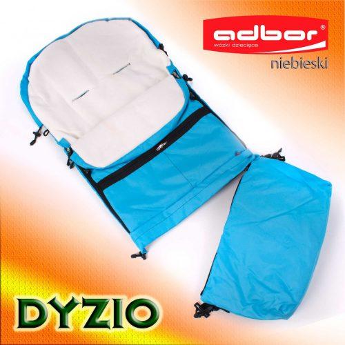 Śpiworek do wózka sanek wielofunkcyjny Dyzio 80-110 cm Niebieski + torba