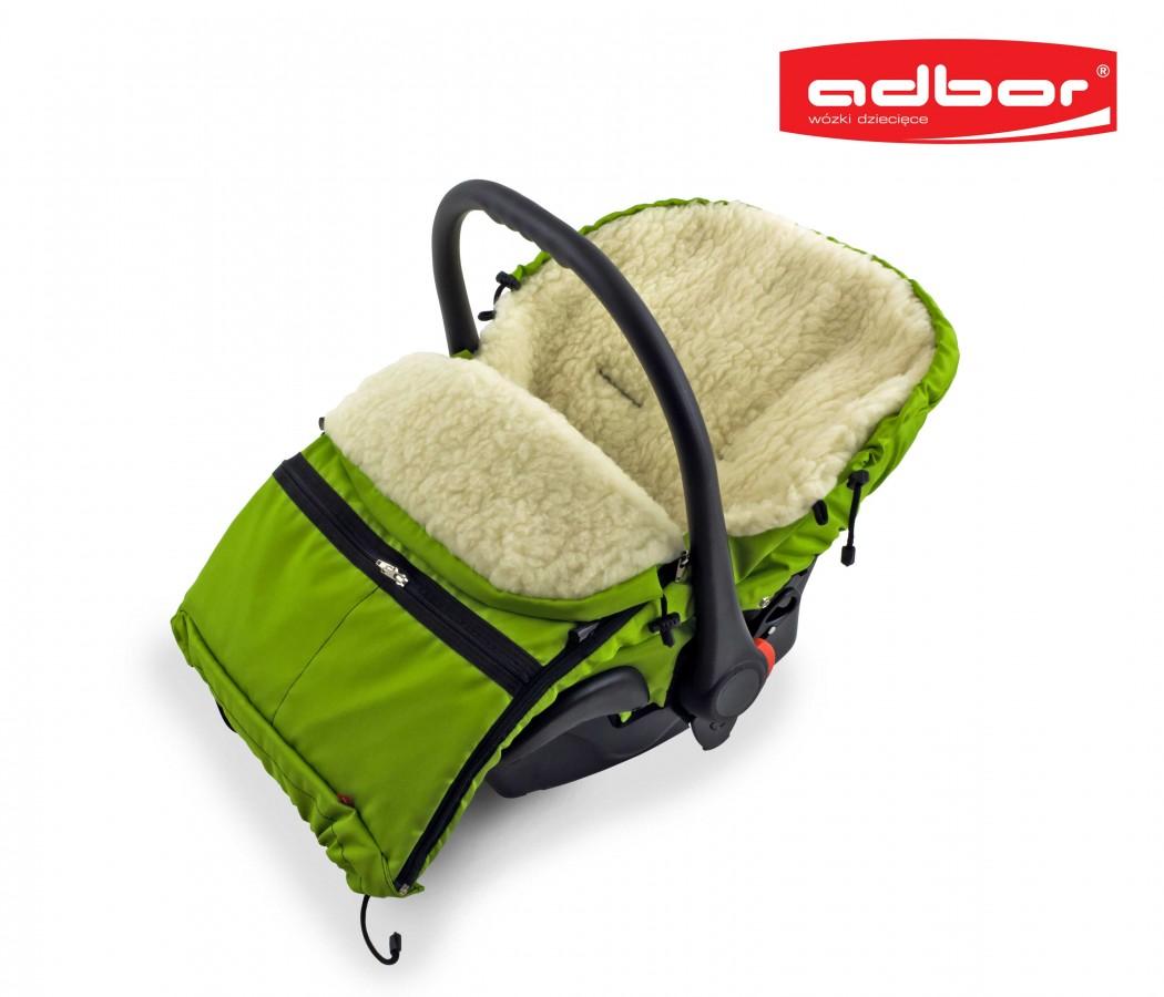 Śpiworek do wózka sanek wielofunkcyjny Dyzio 80-110 cm Granatowy + torba do wózka