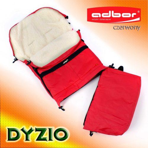 Śpiworek do wózka sanek wielofunkcyjny Dyzio 80-110 cm Czerwony + torba do wózka