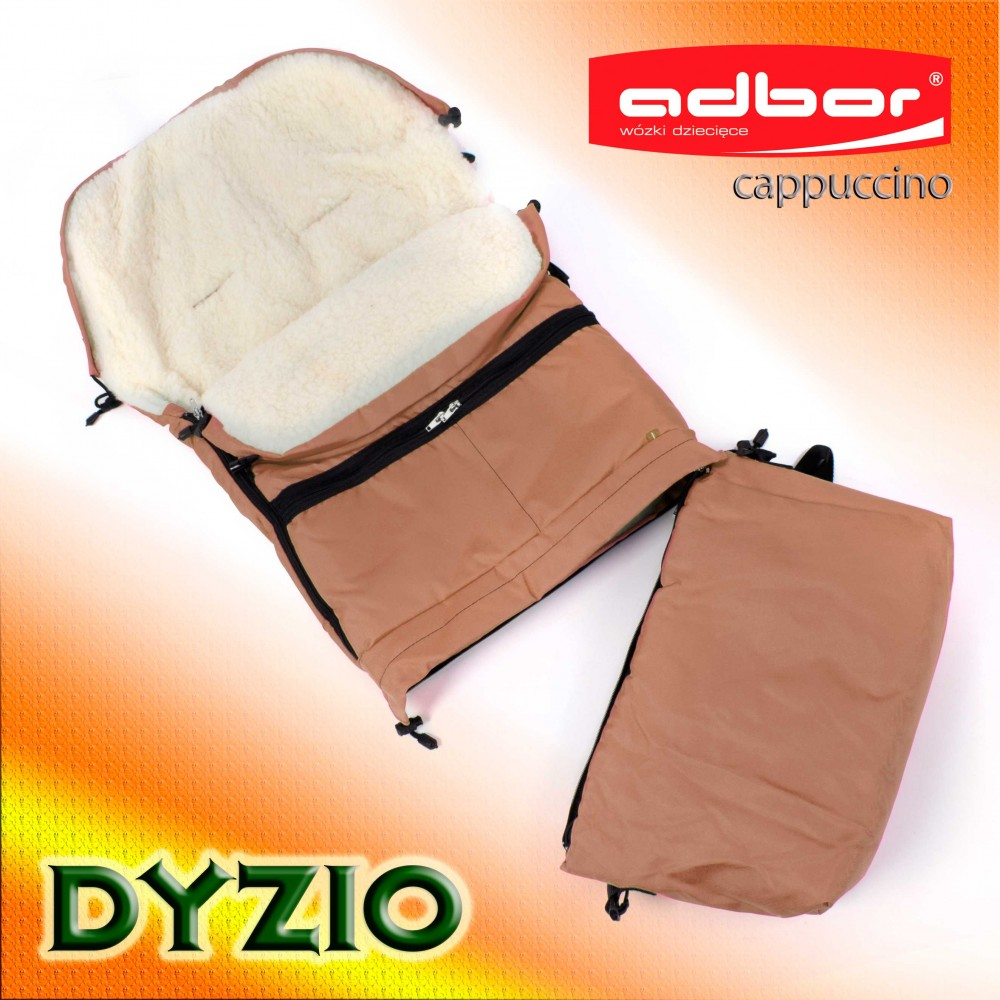 Śpiworek do wózka sanek wielofunkcyjny Dyzio 80-110 cm Cappucino + torba do wózka