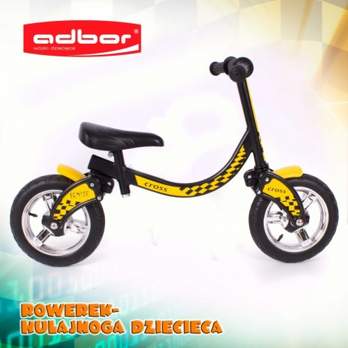 Adbor rowerek biegowy Biker Żólty