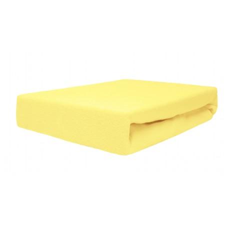 Prześcieradełko z gumką na łóżeczko 140x70 Duet Baby Żółty