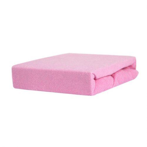 Prześcieradełko z gumką na łóżeczko 140x70 Duet Baby Różowy