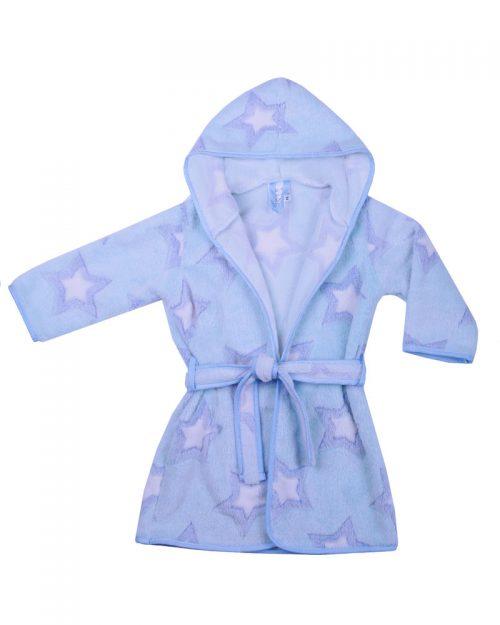 Szlafrok kąpielowy dla dziecka Coral Flece 80-92, Duet baby Niebieski