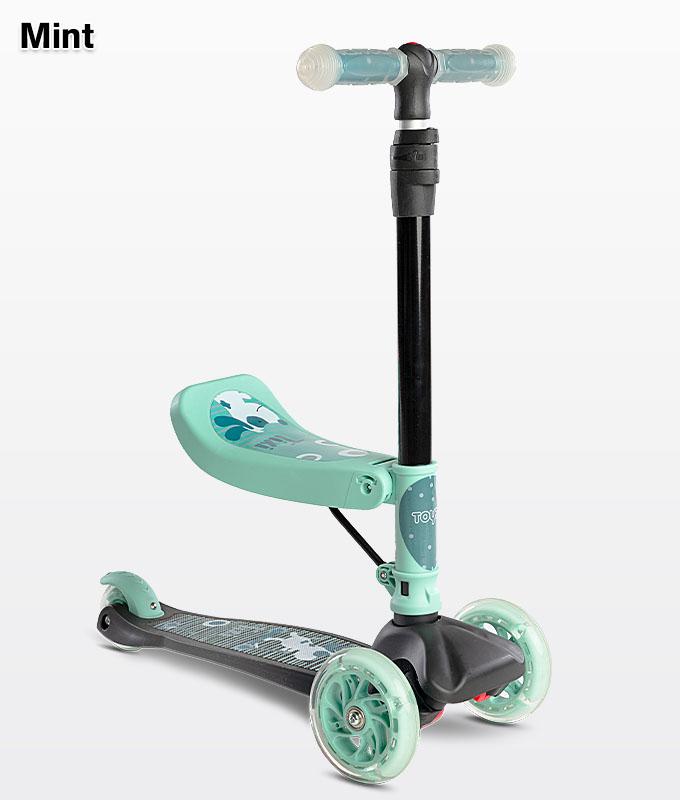 Hulajnoga z siedziskiem dla dzieci Tixi mint - miętowa Toyz