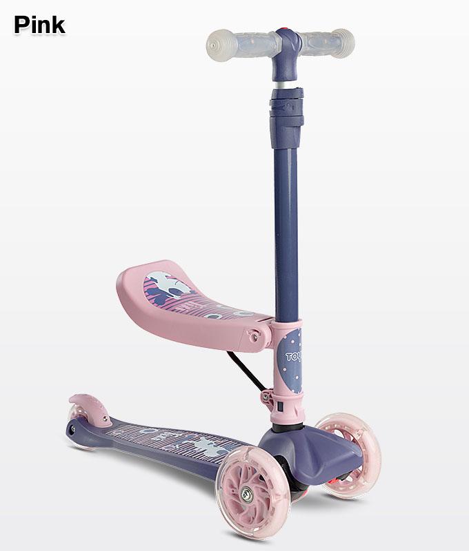 Hulajnoga z siedziskiem dla dzieci różowa Pink Toyz