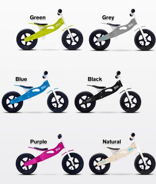 Drewniany rowerek biegowy Velo dla dzieci od 3-6 roku życia, Toyz Natural