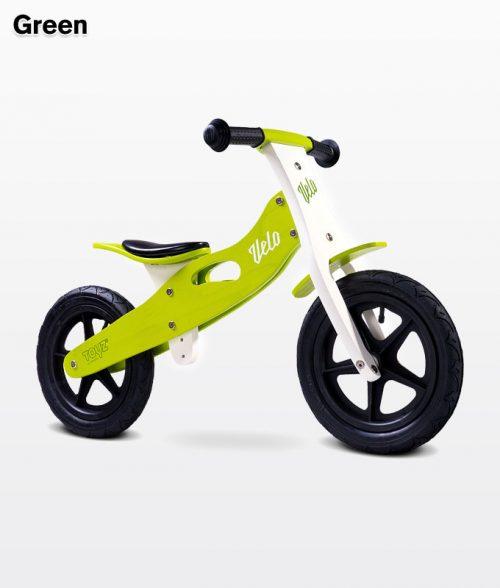 Drewniany rowerek biegowy Velo dla dzieci od 3-6 roku życia, Toyz Green
