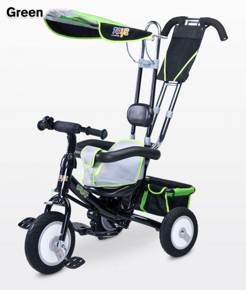 Metalowy trzykołowy rowerek dla dzieci Derby, Toyz Green