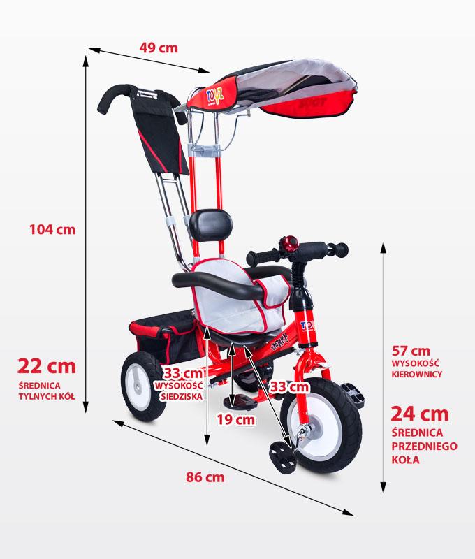 Bezzpieczny trzykołowy rowerek dla dzieci Derby, Toyz Blue