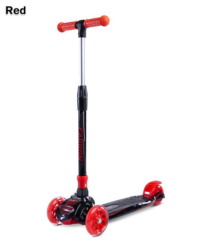 Hulajnoga dla dzieci na 3 kołach- 3 kołowa Carbon, Toyz Red
