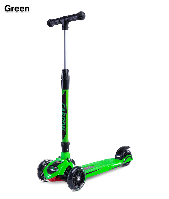 Hulajnoga dla dzieci - 3 kołowa Carbon, Toyz Green