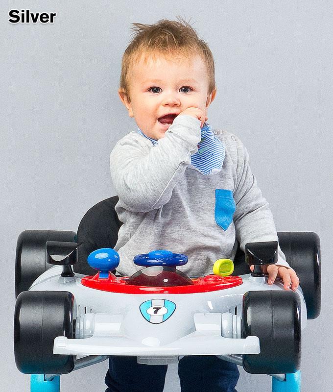 Muzyczny chodzik dla dziecka samochód - Formuła, Toyz White