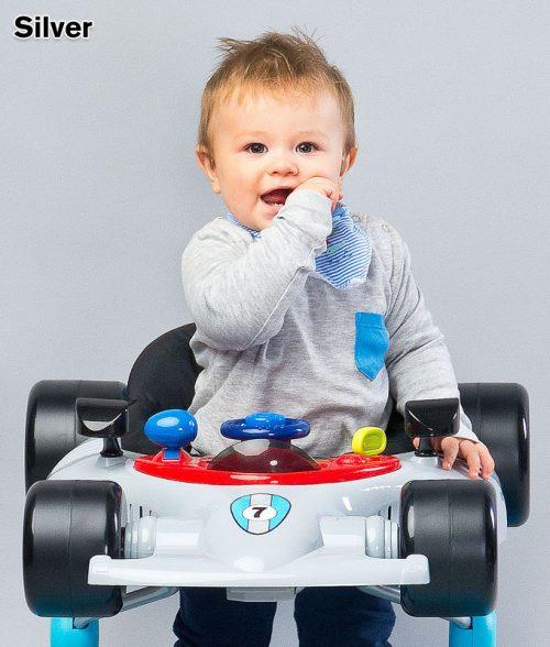 Muzyczny chodzik dla dziecka samochód - Formuła, Toyz Silver
