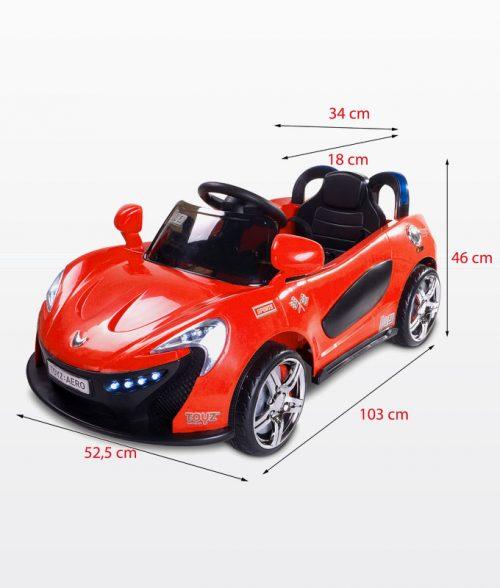 Samochód na akumulator ze światłami LED,melodie, pilot dla rodzica dla dzieci Aero, Toyz Blue