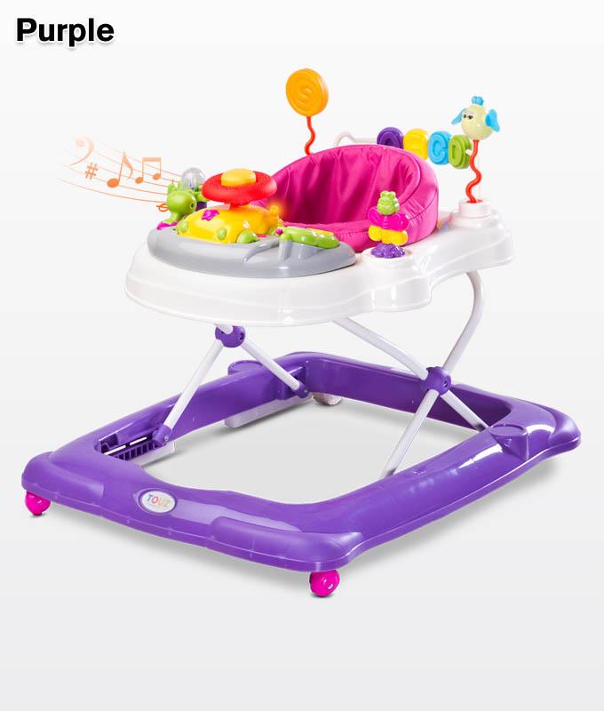 Chodzik dla dziecka Stepp z pałąkiem do zabawy, Toyz Purple